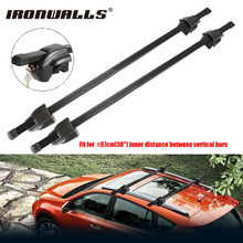 Ironwalls 2x Car Roof Rack Cross Bar Top Luggage Cargo Carriers Steel 165LBS Anti-theft Lock KEY For Nissan Honda BMW X5 X3 Ford(China)