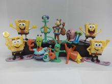 Free Shipping SpongeBob Figures SquarePants30pcs/set PVC Collectibles Model Doll Toys Action Figure children toys Gifts 10sets