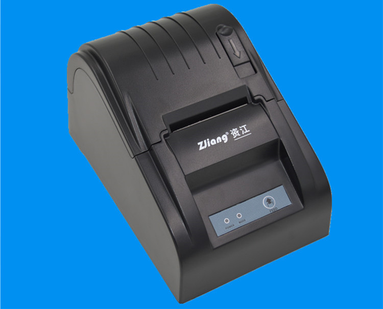ZJ-5890T printer Black and white Wholesale   58mm thermal receipt  machine Printer for Restaurant and Supermarket USB interface<br><br>Aliexpress