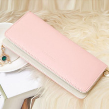 Top sale! fashion wallet women Long Purse Wallet Card Holder candy color zipper coin key phone purse carteira feminina #yl123
