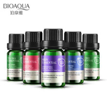 BIOAQUA Pure Lavender Rose Teatree Essential Oil Plant Fragrant Face Skin Care Liquid Perfume Anti Wrinkle Moisturizing 10ml(China)