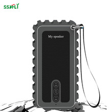 ssdfly 10W power stereo ipx7 waterproof Bluetooth speaker Built-in FM plug-in TF card outdoor shockproof speaker dust and drop(China)