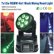 7x12W LED Moving Head Light RGBW 4in1/MX512 Event Wedding KTV Bar Dj Disco Party Stage 7*12W LED Moving Head Light