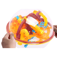 3D Magic Intellect Ball Marble Puzzle Game perplexus magnetic balls IQ Balance toy Educational classic toys Maze Ball & base(China)