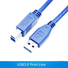 USB 3.0 Printer Cable USB Type A Male To B Male USB square opening Printer Cable 1m 1.5m 3m 5m For HP Canon Epson Printer(China)