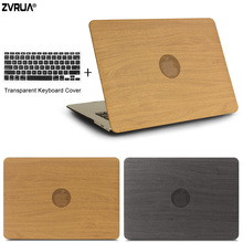 ZVRUA WOOD GRAIN PU Leather Laptop Cases for apple MacBook Air Pro Retina 11 12 13 15 with Touch Bar New + keyboard cover