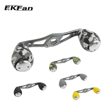 EKFan Stainless Steel Fishing Reel Handle EVA Knobs For Baitcasting Fishing Reel Rocker Spinning Reel Handle Accessories