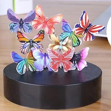 9Pig/Magnet Magnetic Sculpture colorful butterfly Endless Combination Stacking Toy/Boy Birthday Gift Office Decompression Toy