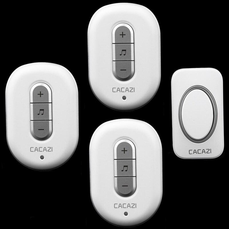 280m remote control door ring 1 transmitter+3 receivers AC 110/220V digital Wireless Doorbell Waterproof  button Door Bell<br><br>Aliexpress