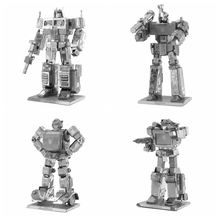 3D DIY Metal Jigsaw Pluzze DIY Robot Scale Buliding Model Kids Toys