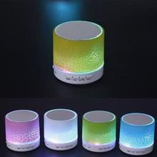 A9 Smart LED Light Crack Mini Wireless Bluetooth Speaker Portable Bluetooth Stereo Speaker Support TF Card/USB Flash Drive/FM(China)