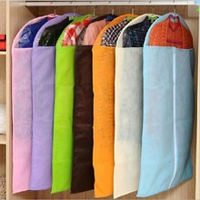 wholesale 100pcs Clothing suit dust cover non-woven thickening transparent dust cover storage bag clothes cover dust bag