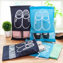 2 Size Thick Non-Woven Laundry Shoe Bag Travel Pouch Storage Portable Tote Drawstring Storage Bag Organizer Covers