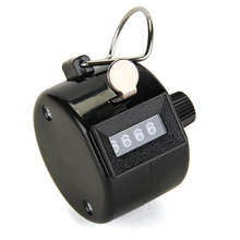 Hot 1pcs Hand Tally Click Counter with 4 Digital Number Finger Display Manual Counting Clicker Counter Click Timer Golf Points