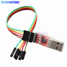 1Set CP2102 Serial Converter USB 2.0 to TTL UART STC Download 5PIN Module With Dupont Line Free Shipping 45x14x8mm