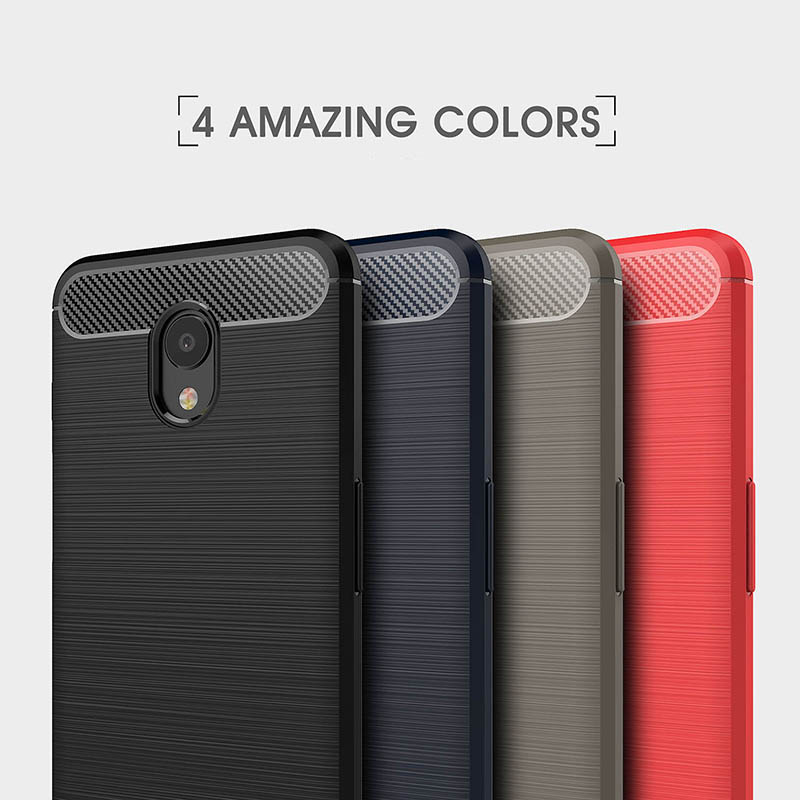 carbon fiber brushed silicone case meizu m6s (7)