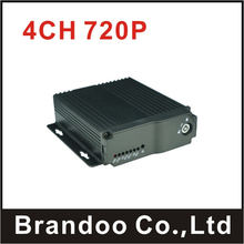 New Products 4CH 720P Car DVR Support VGA Output For Taxi Bus Vehicle Truck Used