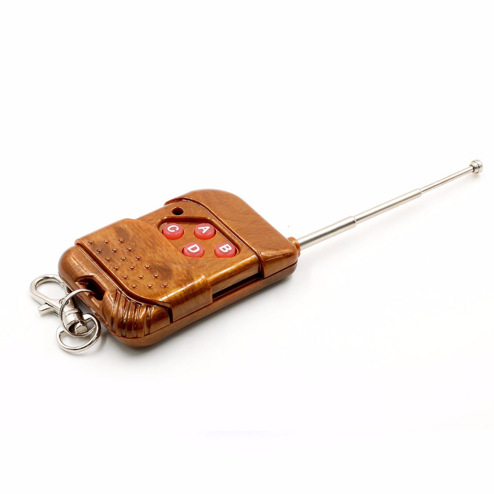 1set 2262/2272 Four Ways Wireless Remote Control Kit,M4 the lock Receiver with 4 Keys Wireless Remote Control 5