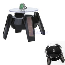 Solar Power 360 Degree Jewelry Rotating Display Stand Turn Table Plate-W128