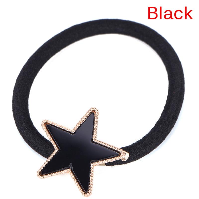 Girls Metal Star Hair Rope Women Elastic Hair Band Headwear Headbands Trendy Alloy Stars Hair Accessories