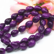 7x9mm Accessory Crafts Pearl Purple Glass Beads Diy Loose Semi Finished Stones Ball Gift Jewelry Making Wholesale Fitting Female