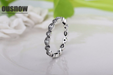 A wholesale retro silver 925 rings for woman unique Thailand silver retro rings Compatible with Original charm Jewelry ring ring