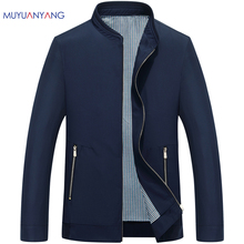 Mu Yuan Yang Men's Jacket 2017 Autumn Casual Mens Jackets And Coats Spring Man Jackets Solid Stand Collar Outerwear & Coats