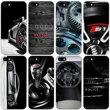 Audi RS4 RS6 RS7 RS8 Black Plastic Case Cover Shell for iPhone Apple 4 4s 5 5s SE 5c 6 6s 7 Plus