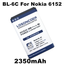 High Capacity 2350mah BL-6C Battery For Nokia QDA+ 2110 2116 2125 2855 2865 6015i 6016i 6019i 6152 6152 6275 E70 6255(China)