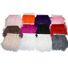 "2 Yards 4-6"" Trim Ostrich Fringe Fluffy Ostrich Plumes Feather Feathers Centerpieces Wedding Skirt Clothing Decoration IF40"