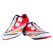 Free Shipping SIDEBIK Men Breathable Athletic Cycling Shoes Road Bike Shoes Bicycle Shoes Road Racing MTB Shoes EU40-45 US7.5-12(China)