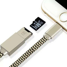 Portable 8 Pin to USB Digital Cable External U Disk Data Charging Cable Micro SD TF Card Reader Cables for iPhone ipadA02
