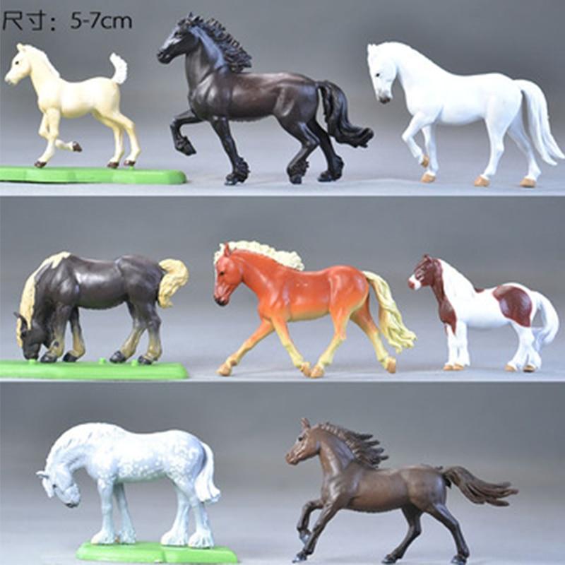 1 Set Anime Horse Model 5-7 CM Plastic Simulation Animal Figure Toys For Children Kids Gifts Kawaii Home House Decoration <br><br>Aliexpress
