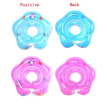 Cute Drop Neck Baby Swim Float Ring Accessories Big dolphin Safety Swimming Hose Ring Inflatable Bath(China)