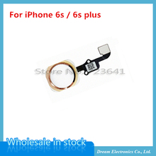 "10pcs/lot Home Button With Flex Cable Assembly For iPhone 6S 4.7"" For iPhone 6s Plus 5.5""  Sensor Replacement Parts 4 colors"