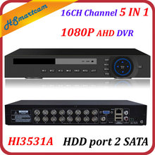 HD 16CH 1080P CCTV DVR Hi3531A HVR XVR for AHD CVBS CVI TVI IPC Camera NEW Solution HD 1080P free P2P DDNS XMeye HDD port 2 SATA(China)