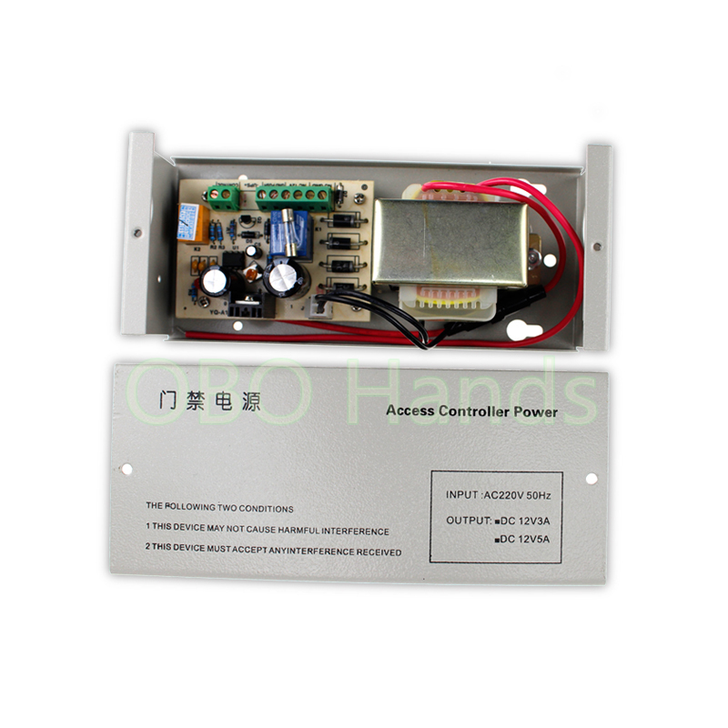 Free shipping Door Power 12VDC 5A access control system power supply for access control system AC220V 50Hz<br>