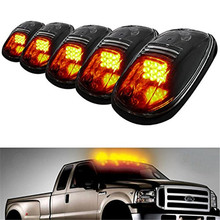 Smoked Lens Aerodynamic Low Profile Design LED Top Mouse Lamps W/Amber LED Light Bulbs For Ford F150 Raptor Dodge Tiantu Pickup(China)