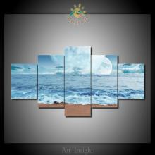 5 Pieces Planets Ocean Modern Wall Art Pictures HD Printed Canvas Painting Modular Pictures HD Paints Home Decoration(China)