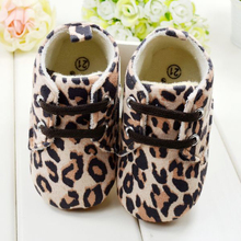 Cute Baby Girl Infant Toddler Leopard Crib Shoes Pre Walking