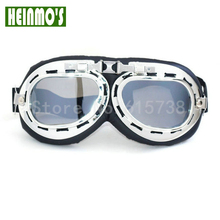 Motorbike Retro Harley style Cycling Eyewear dust-proof steampunk goggles Silver outdoors used sport sunglasses