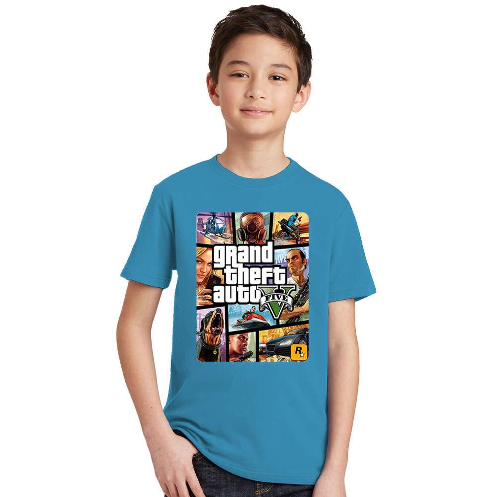 Summer Kids Boys Girls T Shirt 1 gta T-Shirt gta Street Fight Long with gta 5 clothes Children Tees Short Sleeve Kids clothing 5