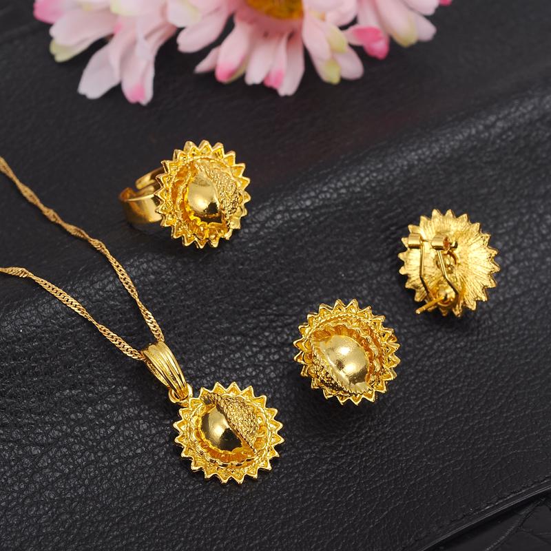 Ethiopian-Gold-Jewelry-Sets-Earrings-Pendant-Ring-KenyaTraditional-African-bridal-Habesha-Women-Party-African-wedding-gift (3)