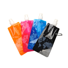 Buy Travel Foldable Portable Ultralight Silicone Water Bag Water Bottle Outdoor Sport Supplies Hiking Camping Soft Water Bag 480ML for $1.54 in AliExpress store