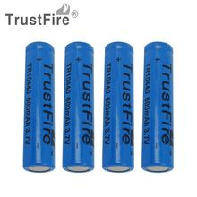 4pcs/set TrustFire 10440 Li-ion Rechargeable Battery 3.7V 600mAh for LED Flashlight/Torch