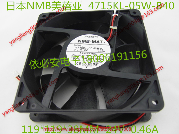 NMB-MAT 4715KL-05W-B40, P03 DC 24V 0.46A, 120x120x38mm    Server  Square fan<br>