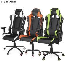 iKayaa Ergonomic Racing Style Gaming Office Chair Swivel Executive Computer Chair Armrest Adjustable Tilt Function US FR Stock