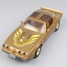 1:18 big Scale brand luxury large Miniature Pontiac 1979 Firebird trans AM vintage car diecast models toy for boy Gold Silver(China)