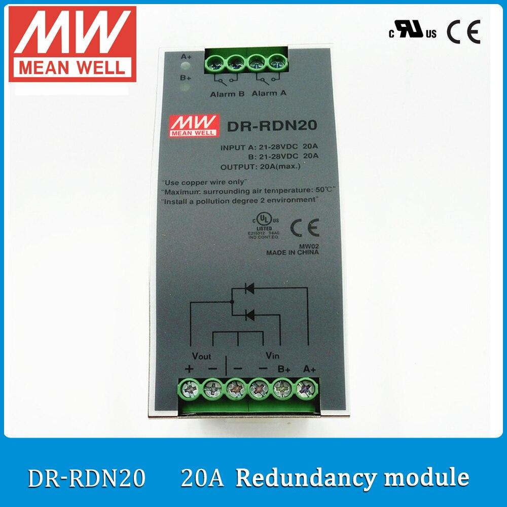 Original MEAN WELL DR-RDN20 20A Din rail mounted Power Supply redundancy module reverse voltage 30V  <br><br>Aliexpress