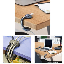 Desk Cable Clips Organizer Management Multipurpose Wire Holder USB Chargers Storage Holders & Racks(China)